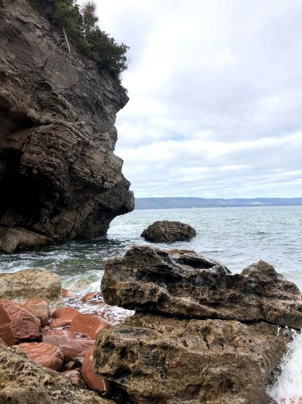 Cape Dauphin is where Kluskap Cave is located. (Nicole MacLennan/CBC - image credit)