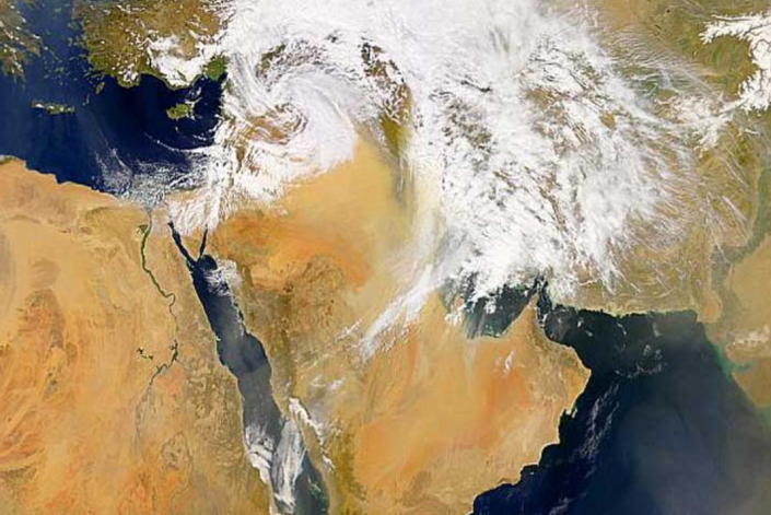 Low Pressure System over the Middle East on March 26