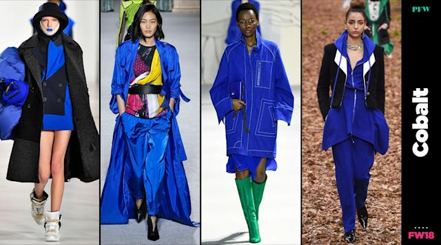 Cobalt blue is the breakout color from Paris Fashion Week. (Photo: Getty, Art: Quinn Lemmers)