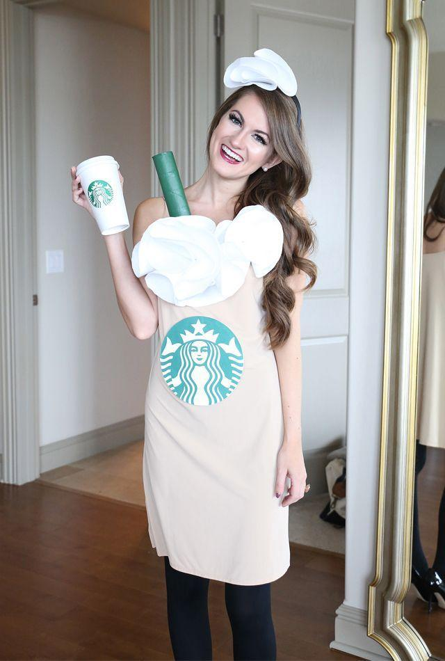 """<p>With an easy tutorial and seriously cute results, Caitlin has whipped together a sure-to-win Starbucks Halloween costume.</p><p><strong>Get the tutorial at <a href=""""https://www.southerncurlsandpearls.com/last-minute-diy-halloween-costume/"""" rel=""""nofollow noopener"""" target=""""_blank"""" data-ylk=""""slk:Southern Curls & Pearls"""" class=""""link rapid-noclick-resp"""">Southern Curls & Pearls</a>.</strong></p><p><strong><a class=""""link rapid-noclick-resp"""" href=""""https://www.amazon.com/s?k=white+felt&ref=nb_sb_noss&tag=syn-yahoo-20&ascsubtag=%5Bartid%7C10050.g.28181767%5Bsrc%7Cyahoo-us"""" rel=""""nofollow noopener"""" target=""""_blank"""" data-ylk=""""slk:SHOP WHITE FELT"""">SHOP WHITE FELT</a></strong></p>"""