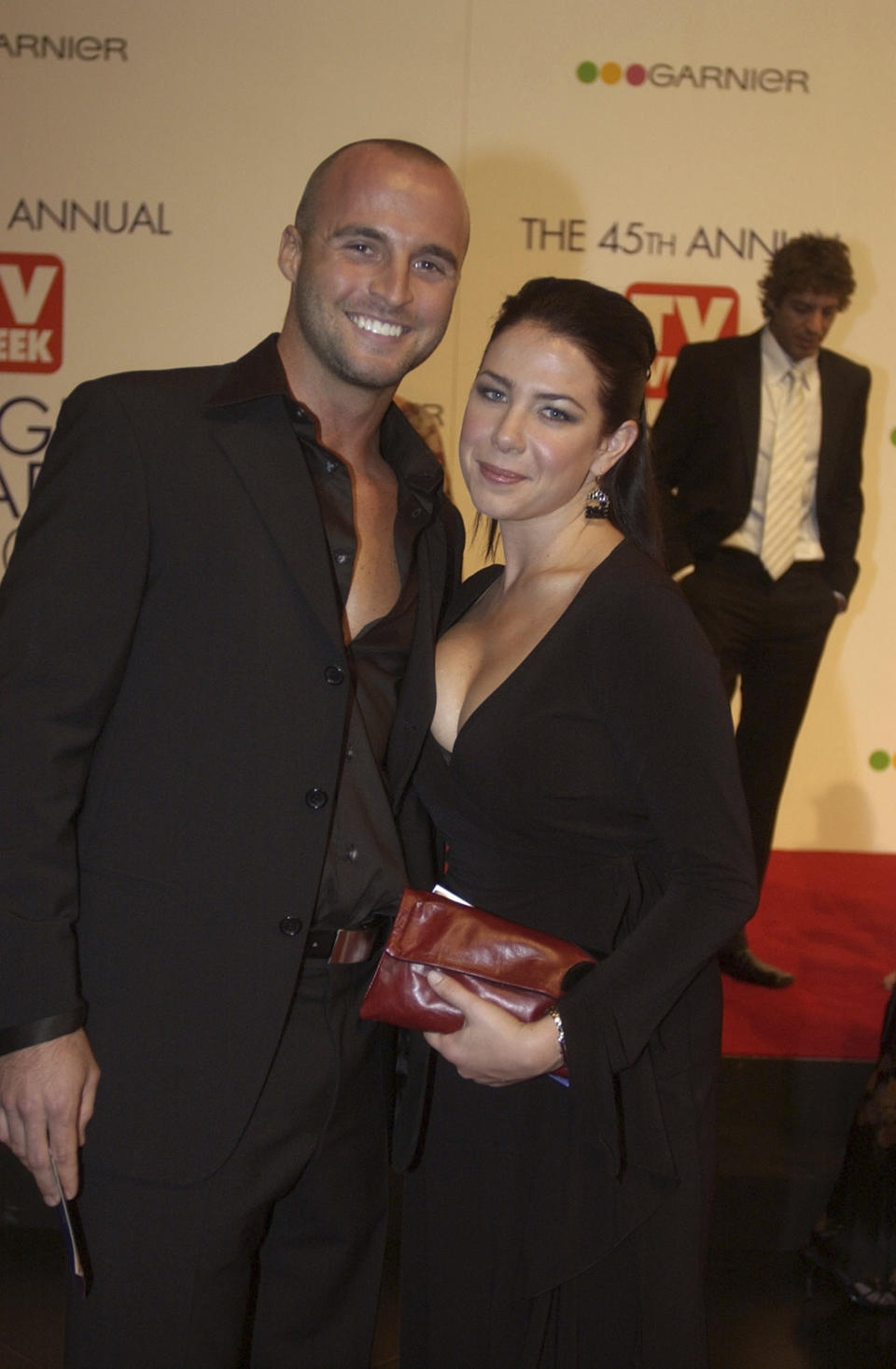 A photo of Ben Unwin and Kate Ritchie on the red carpet for the 45th Annual TV Week Logie Awards 2003 held at the Crown Casino, Melbourne, Australia.