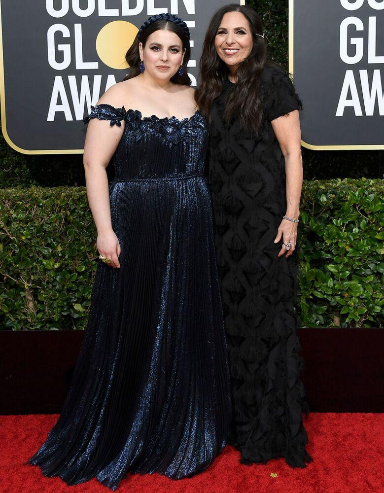 Beanie Feldstein and mom Sharon Lyn Chalkin at the Golden Globes | Kevork Djansezian/NBC/NBCU Photo Bank via Getty