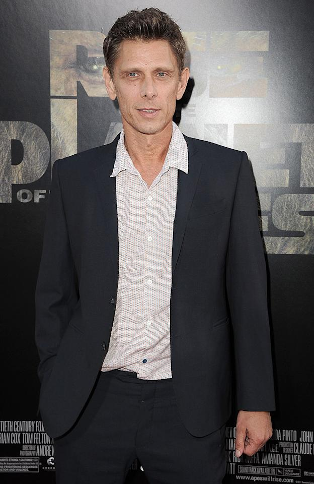 """<a href=""""http://movies.yahoo.com/movie/contributor/1800252468"""">Jamie Harris</a> at the Los Angeles premiere of <a href=""""http://movies.yahoo.com/movie/1810204226/info"""">Rise of the Planet of the Apes</a> on July 28, 2011."""