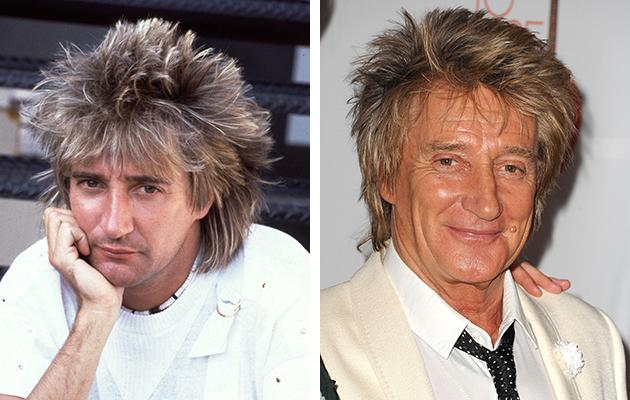 Rod Stewart currently keeps the same classic mullet from the '70s.