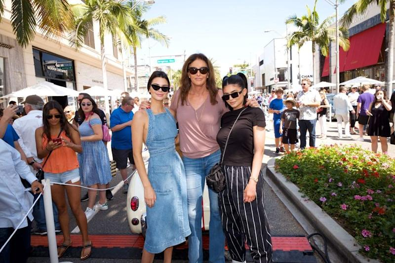 Caitlyn Jenner with Kendall and Kylie