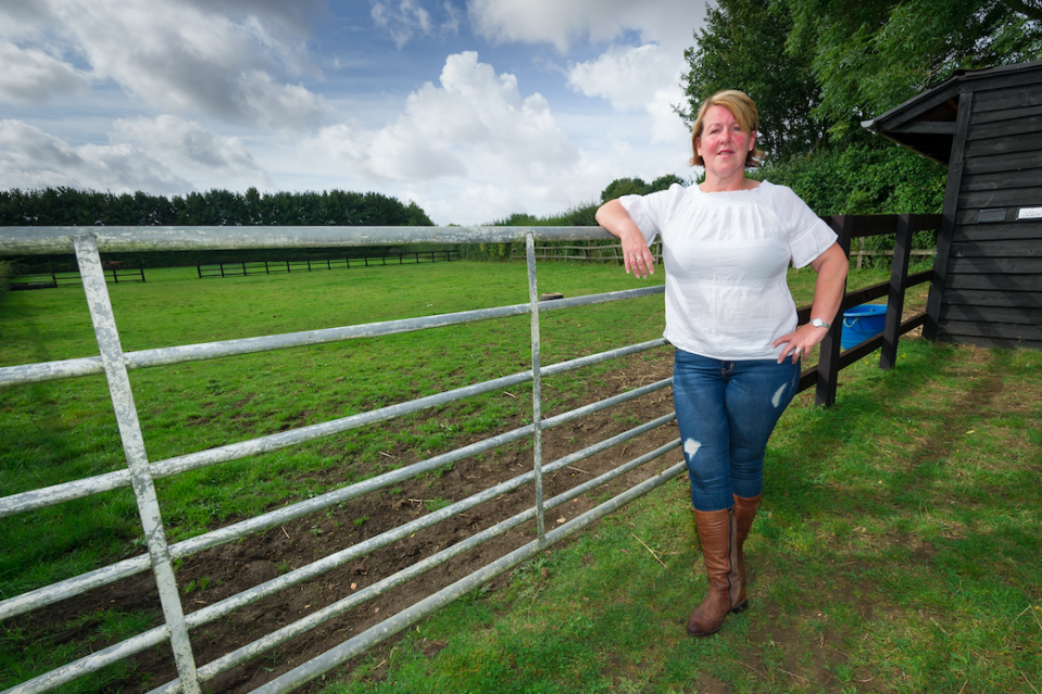 <em>The farmer had offered to give her plot away to travellers to upset locals (SWNS)</em>