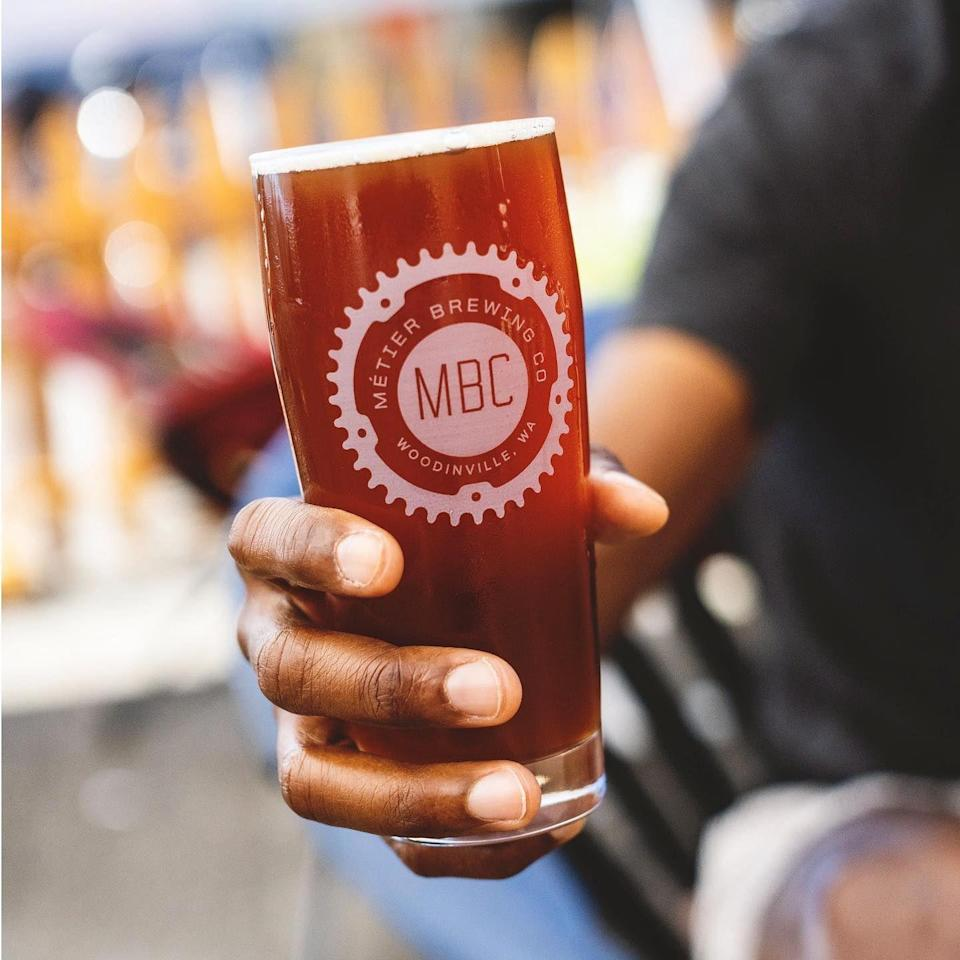"""<p><strong><a href=""""https://metierbrewing.com/"""" rel=""""nofollow noopener"""" target=""""_blank"""" data-ylk=""""slk:Metier Brewing Company"""" class=""""link rapid-noclick-resp"""">Metier Brewing Company</a>, Seattle</strong></p><p>Founders Todd and Rodney made Metier (which means """"one's calling) to bring people together through really good beer. It's known as being one of the few black-owned breweries in the country, and they work hard to make representation a part of their business. You can order beer online if you're not in the area. </p>"""