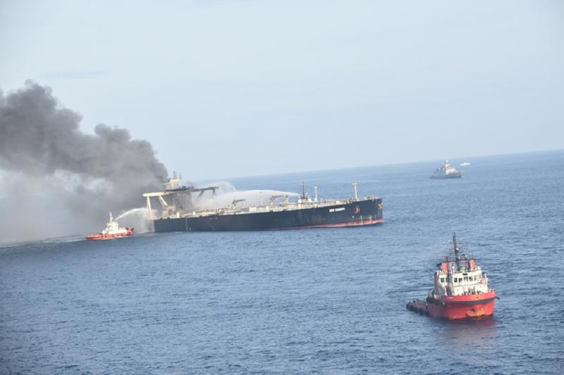 Boarding Burning Oil Tanker & Arresting Drift Towards Sri Lanka Coast Saved Marine Life: Indian Coast Guard