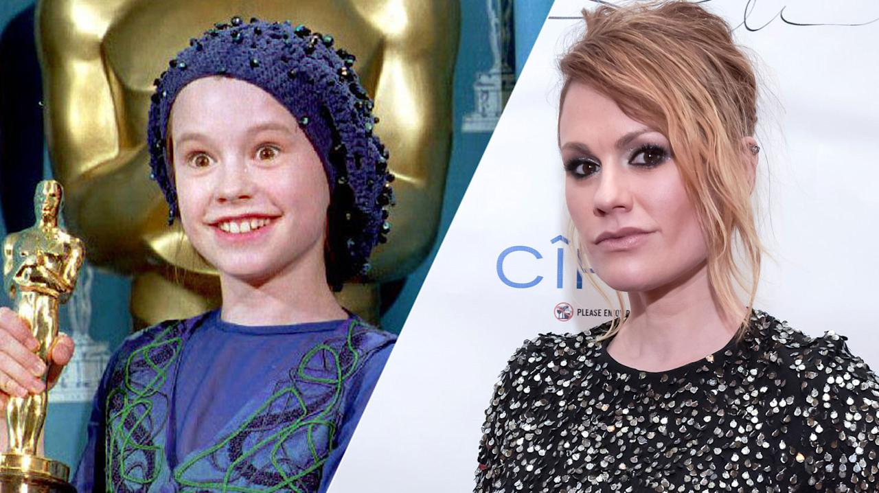 <p>The second youngest ever Oscar winner after Tatum O'Neal, Anna Paquin didn't rest on her laurels after bagging her gong as a kid. The Canadian-born New Zealander's résumé boasts plenty of big movies including: <i>Jane Eyre</i>, <i>Fly Away Home</i>, the <i>X-Men</i> series, <i>Amistad</i> and <i>Almost Famous</i>. She played the improbably-named Sookie Stackhouse in HBO's wildly successful vampire series, 'True Blood', and her next show <i>Flack</i> will air this year. </p>