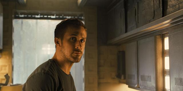 Ryan Gosling in <em>Blade Runner 2049</em>. (Photo: Warner Bros.)