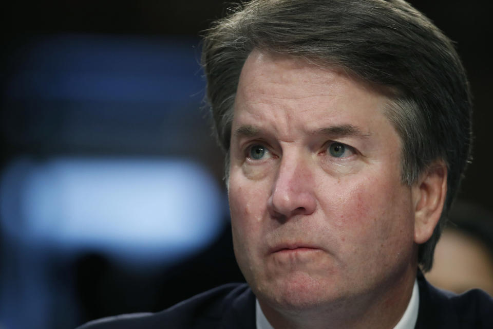 Brett Kavanaugh testifies before the Senate Judiciary Committee on Capitol Hill for the third day of his confirmation hearing. (Photo: AP Photo/Alex Brandon, File)
