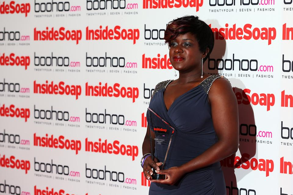 Tameka Empson attends the Inside Soap Awards at One Marylebone on September 24, 2012 in London, England.  (Photo by Mike Marsland/WireImage)