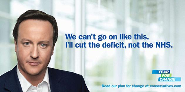 "A Conservative Party billboard launched in 2012, along with the slogan ""Year for change""."
