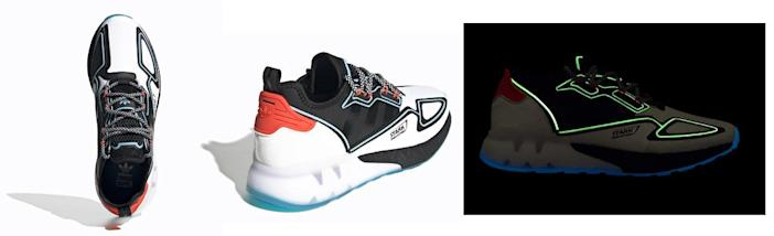 Glow-in-the-dark features help evoke the Iron Man feel in these new MCU inspired Adidas shoes.