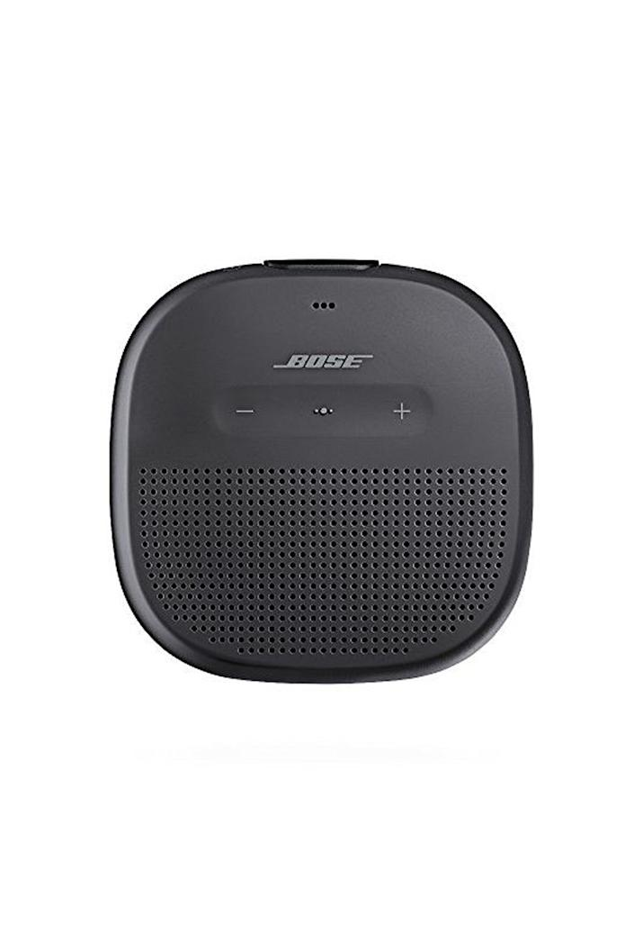 """<p><strong>Bose</strong></p><p>amazon.com</p><p><strong>$99.00</strong></p><p><a href=""""https://www.amazon.com/dp/B0748NCPRR?tag=syn-yahoo-20&ascsubtag=%5Bartid%7C10067.g.13094996%5Bsrc%7Cyahoo-us"""" rel=""""nofollow noopener"""" target=""""_blank"""" data-ylk=""""slk:Shop Now"""" class=""""link rapid-noclick-resp"""">Shop Now</a></p><p>Small enough to fit into a purse or pocket, Bose's SoundLink Micro Bluetooth speaker's size belies its power. The bass is surprisingly strong, and the waterproof speaker—which is available in black, bright orange, and midnight blue—offers six hours of play time from a rechargeable battery.</p>"""