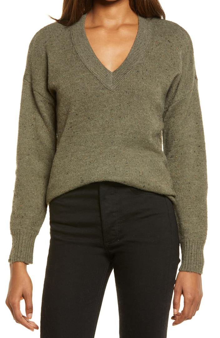Madewell Donegal Bartlett Pullover Sweater. Image via Nordstrom.