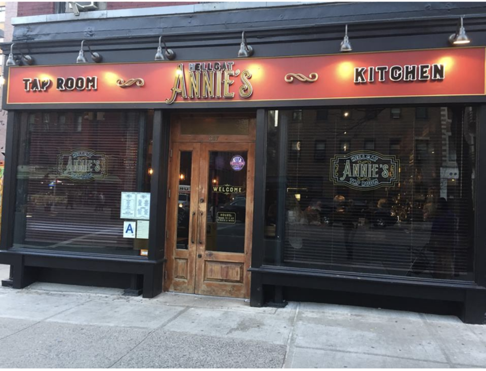 Hellcat Annie's is one of two Manhattan bars that restaurant owner Patrick Hughes is trying to sell for bitcoin.