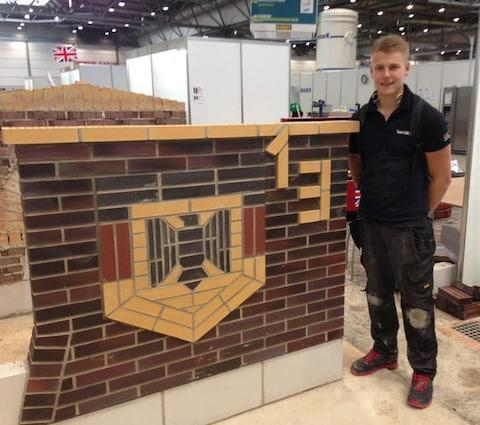 <span>Ashley Terron with one of the tasks set at the World Skills contest in Germany in 2013</span>
