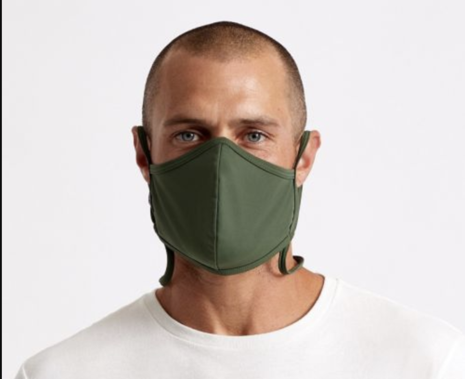 "<p><strong>Brixton</strong></p><p>brixton.com</p><p><strong>$16.00</strong></p><p><a href=""https://www.brixton.com/en_us/men/featured/face-masks/everything-face-mask-olive-black.html"" rel=""nofollow noopener"" target=""_blank"" data-ylk=""slk:Shop Now"" class=""link rapid-noclick-resp"">Shop Now</a></p><p>This mask comes with a handy neck lanyard-esque feature that makes <a href=""https://www.goodhousekeeping.com/health/a32603354/is-it-safe-to-eat-at-restaurants/"" rel=""nofollow noopener"" target=""_blank"" data-ylk=""slk:eating and drinking easier than ever"" class=""link rapid-noclick-resp"">eating and drinking easier than ever</a>. But the interior's bamboo viscose lining is quite smooth and cozy, without being too hefty or fuzzy to actually blocking you from breathing.<br></p>"