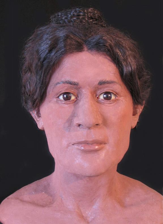 This model is of a woman who died around the age of 20 nearly 2000 years ago.
