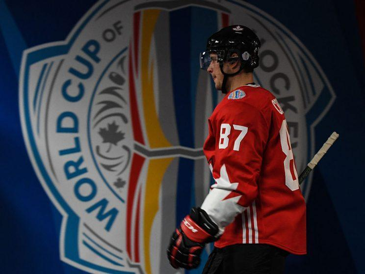 TORONTO, ON - SEPTEMBER 24: Sidney Crosby #87 of Team Canada walks towards the ice during the World Cup of Hockey 2016 against Team Russia at Air Canada Centre on September 24, 2016 in Toronto, Ontario, Canada. (Photo by Minas Panagiotakis/World Cup of Hockey via Getty Images)