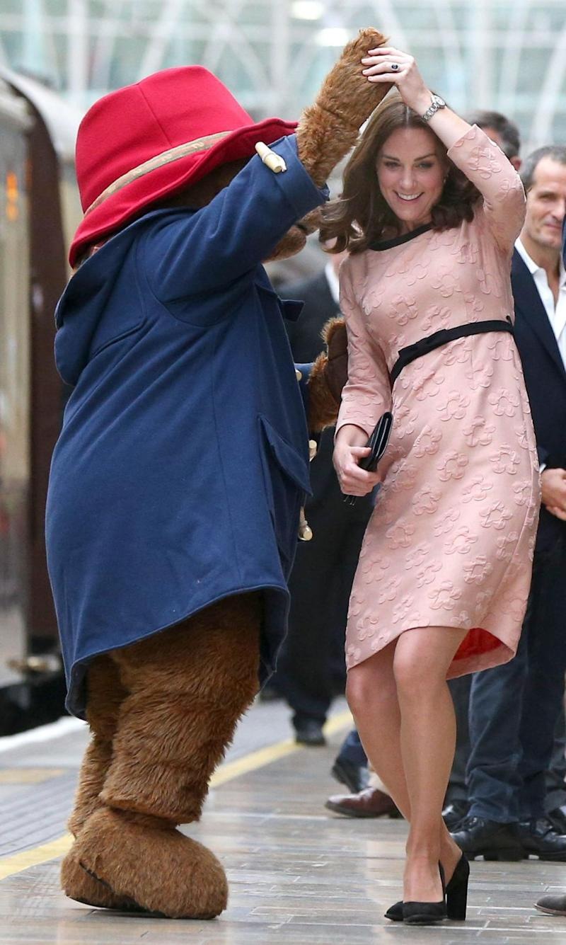 The Duchess is currently three months along but shows no sign of slowing down. Photo: Getty Images