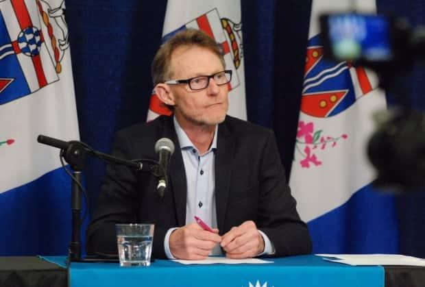 Chief Medical Officer of Health Dr. Brendan Hanley says the territory has 'a stretch to go yet' before seeing the end of the current wave of COVID-19. (Philippe Morin/CBC - image credit)