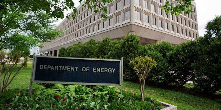 The Department of Energy building is shown in Washington, Friday, May 1, 2015
