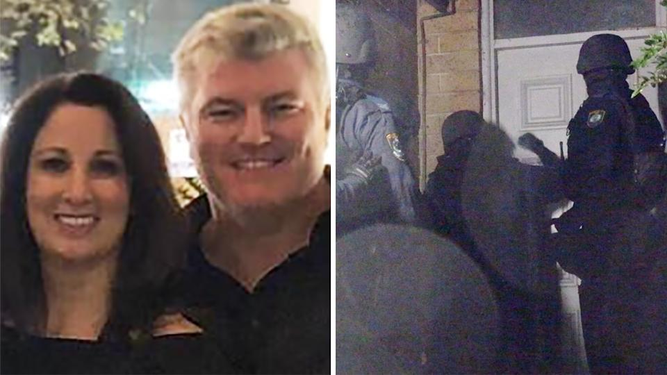 One of the men arrested over alleged abduction and assault of former Australian cricketer Stuart MacGill was the brother of his partner, Maria O'Meagher. Pictures: Instagram/NSW Police