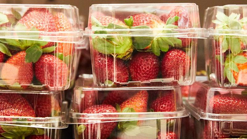 Consumers are being told to cut up strawberries to make sure they are safe to eat