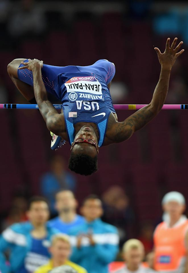 LONDON, ENGLAND - JULY 18:  Isaac Jean-Paul of the United States competes in the Men's High Jump T13 Final during Day Five of the IPC World ParaAthletics Championships 2017 London at London Stadium on July 18, 2017 in London, England.  (Photo by Mike Hewitt/Getty Images)