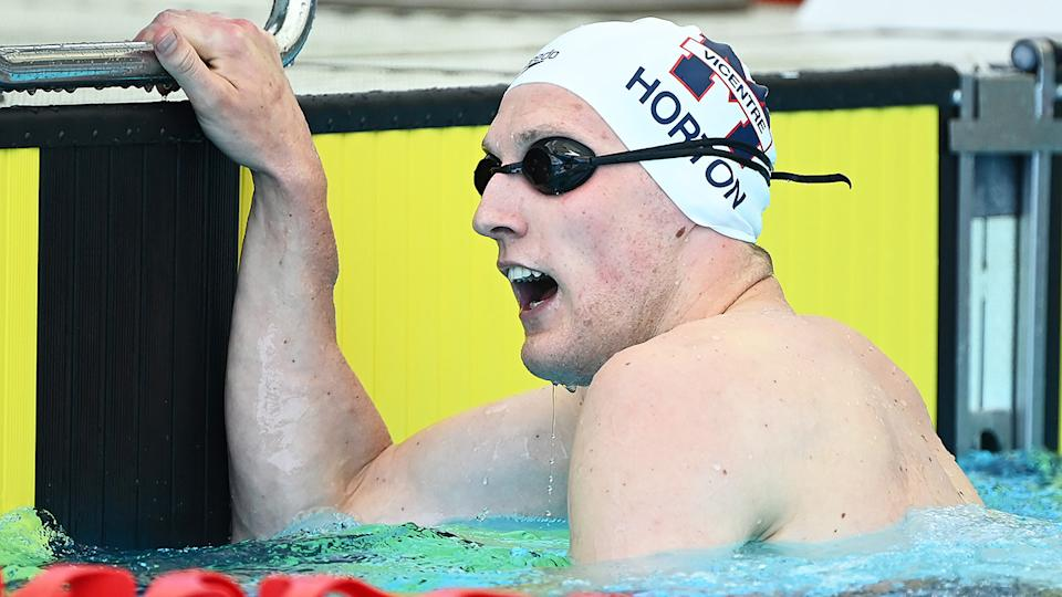 Mack Horton says he is focused on the upcoming Olympic trials for the Tojyo Games. (Photo by Quinn Rooney/Getty Images)
