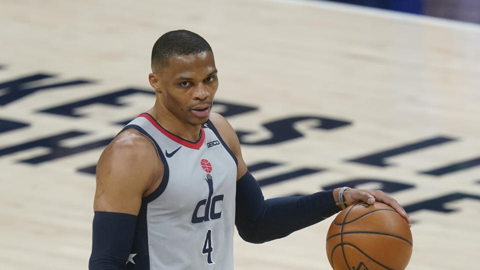 Can Washington Wizards' Russell Westbrook post another triple-double? (AP Photo/Darron Cummings)