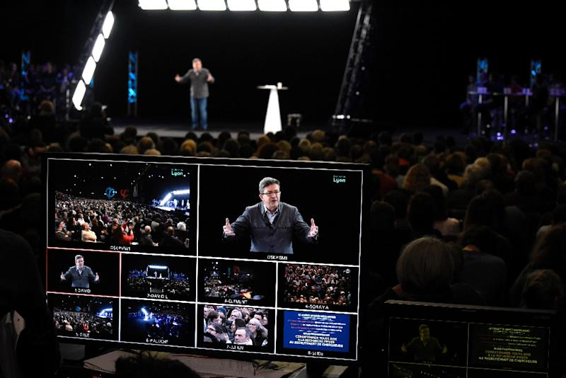 Hologram technology gives a modern twist to French elections