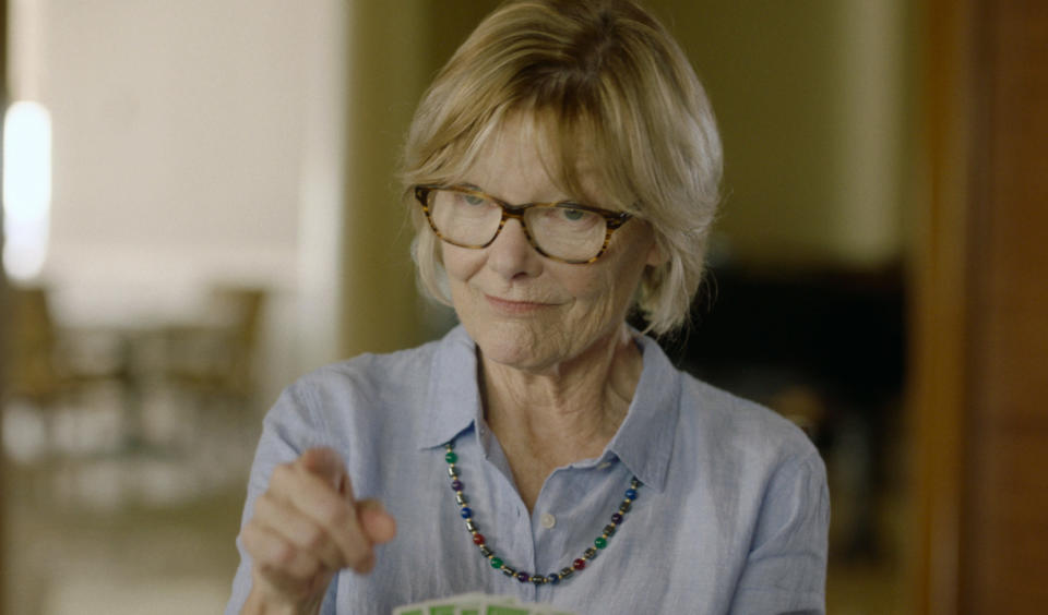 """This image released by Gravitas Ventures shows Jane Curtain in a scene from """"Queen Bees."""" (Gravitas Ventures via AP)"""