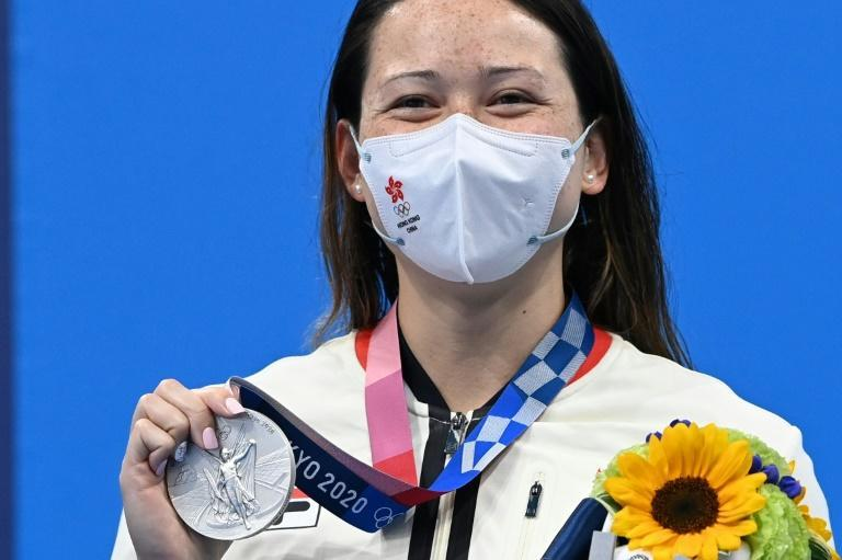 Hong Kong's Siobhan Haughey won her second silver medal of the Olympics in the women's 100m freestyle on Friday