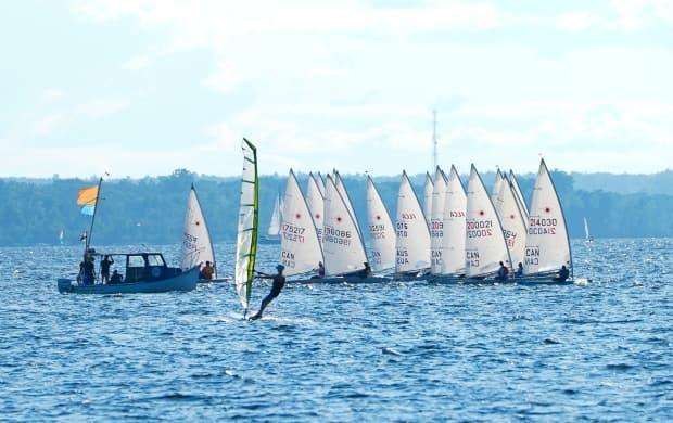 Sailors and windsurfers play in the winds on the Ottawa River on July 21, 2021. (Sean Kilpatrick/The Canadian Press - image credit)
