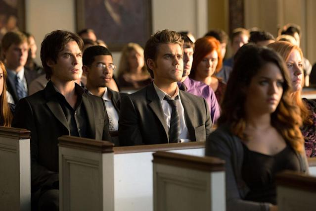 "Ian Somerhalder as Damon and Paul Wesley as Stefan in ""Memorial,"" the second episode of ""The Vampire Diaries"" Season 4."