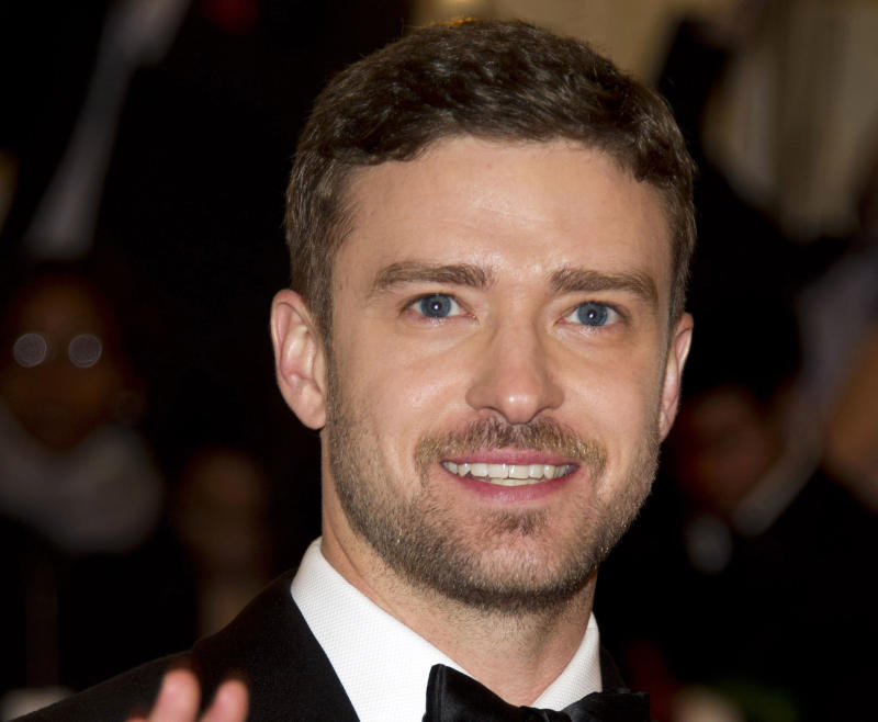 """FILE - This May 7, 2012 file photo shows singer-actor Justin Timberlake at the Metropolitan Museum of Art Costume Institute gala benefit in New York. Timberlake has concentrated almost exclusively on his acting career over the last few years. But on Thursday, Jan. 10, 2013, he posted a video on his that showed him walking into a studio, putting on headphones and saying: """"I'm ready."""" He hasn't made an album since 2006's Grammy-winning """"FutureSex/LoveSounds.""""  (AP Photo/Charles Sykes, file)"""