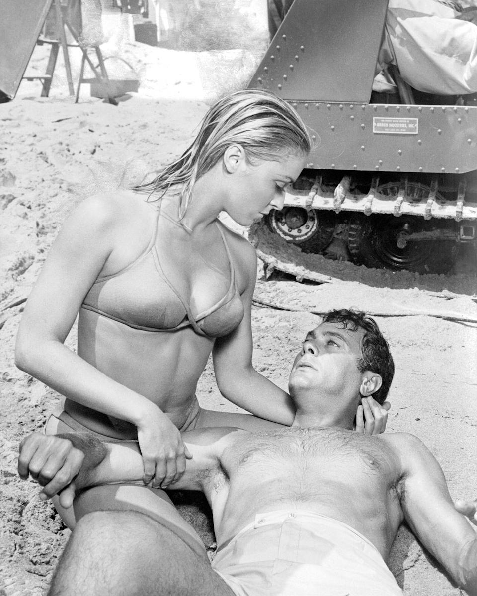 <p>The budding starlet starred alongside Tony Curtis, who played Carlo Cofield, in <em>Don't Make Waves</em>. </p>