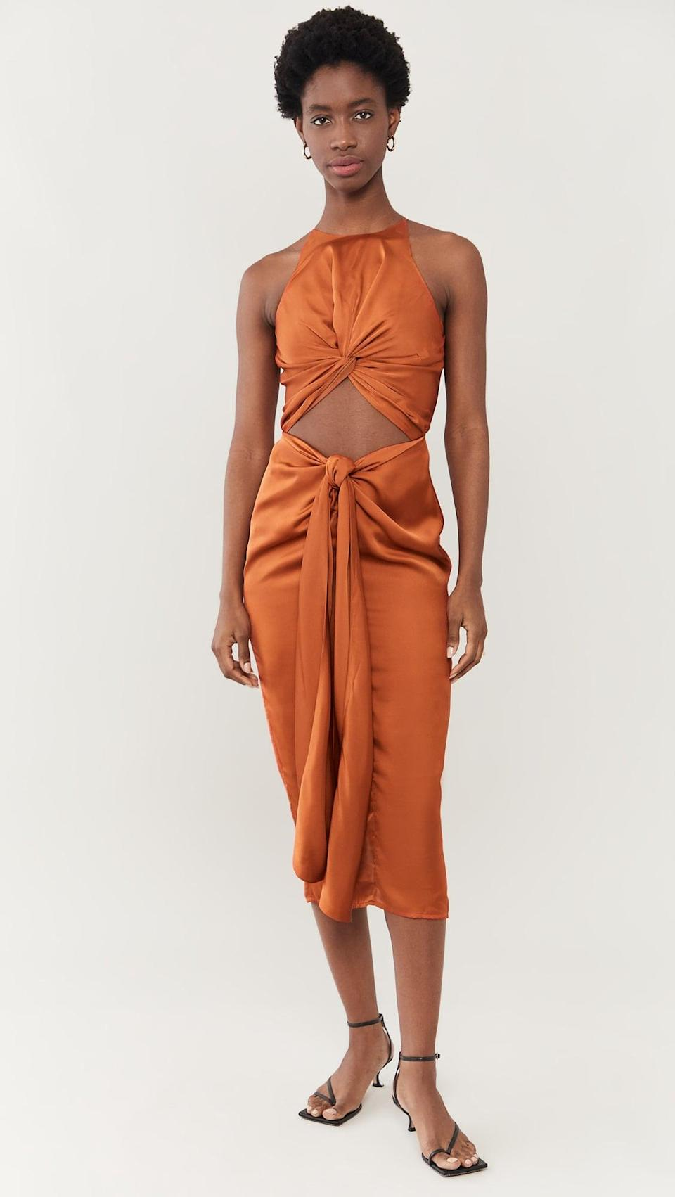 <p>This <span>Andrea Iyamah Reni Knotted Dress</span> ($225) is super sexy. The double-knotted detail is lots of fun.</p>