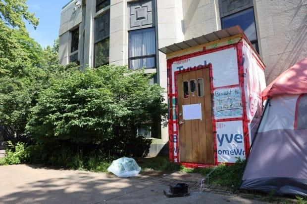Halifax removed three emergency shelters days before the eviction deadline of July 13 as they said they were vacant or no longer needed. (Jeorge Sadi/CBC - image credit)