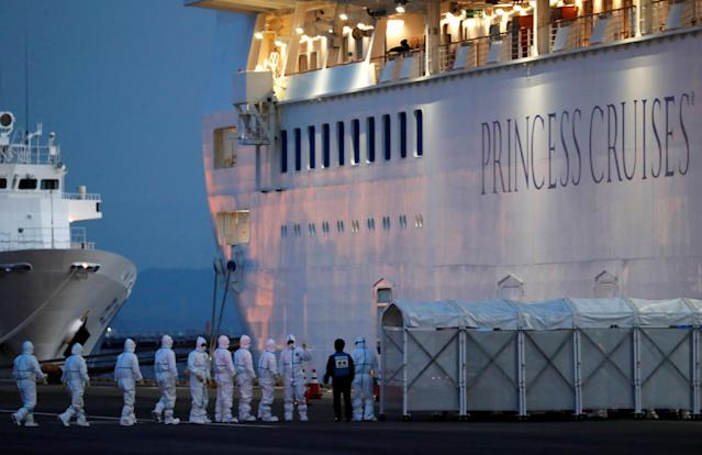A British passenger on board a cruise ship has tested positive for coronavirus (Picture: REUTERS/Kim Kyung-Hoon)
