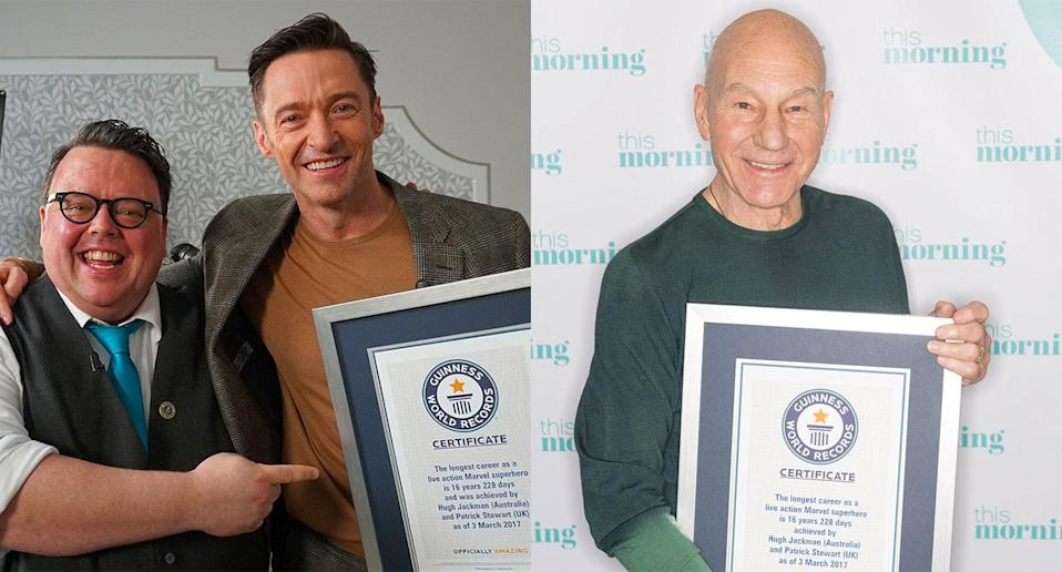 Hugh Jackman and Patrick Stewart are record breakers (GWR)