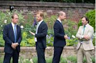 <p>The brothers also chatted with Guy Monson, a member of the statue committee, and garden designer Pip Morrison.</p>