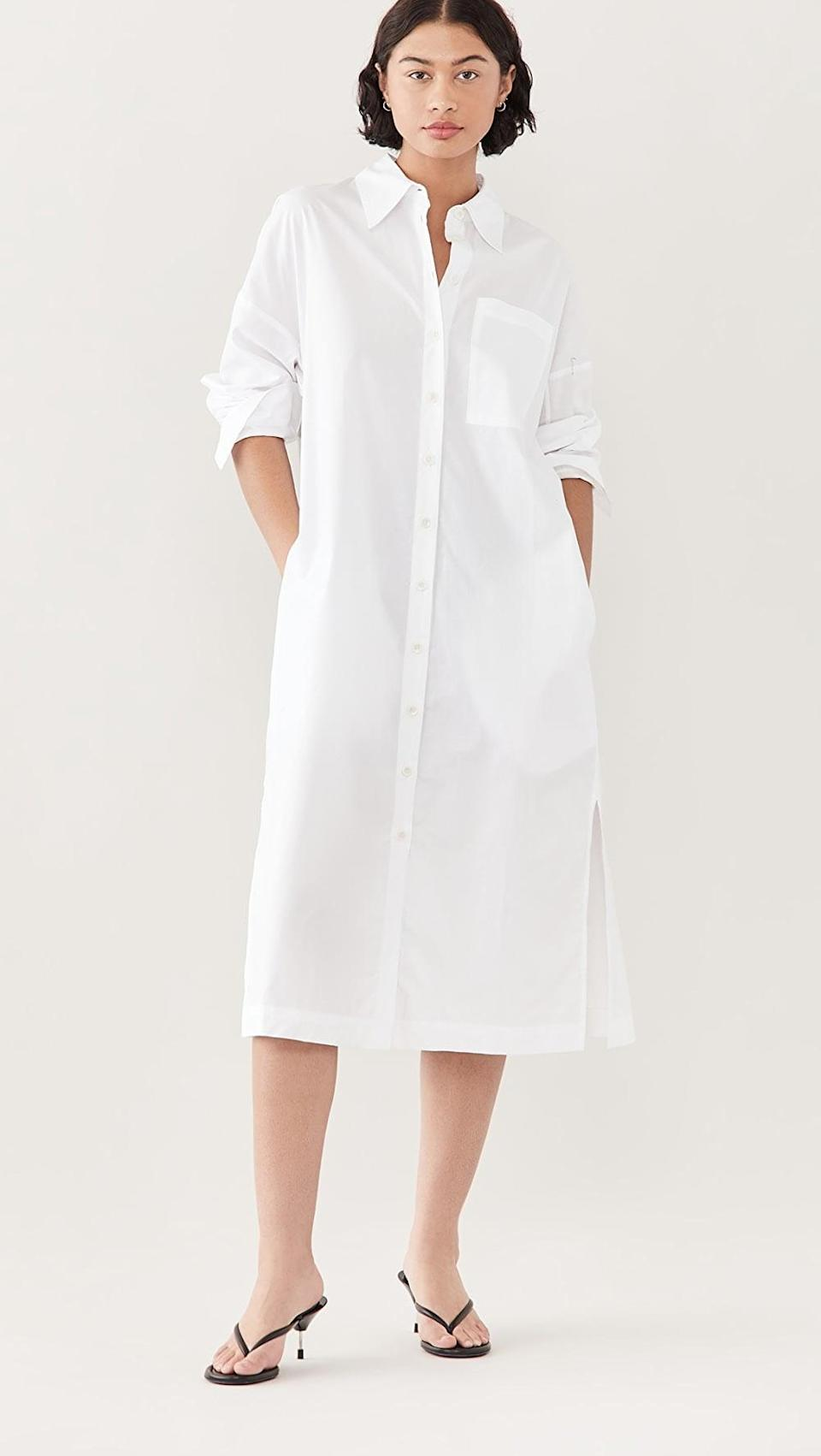 <p>This <span>Tibi The Leisuresuit Shirtdress</span> ($345) is so versatile. You can wear it so many different ways, but it's oversized in the best way possible.</p>