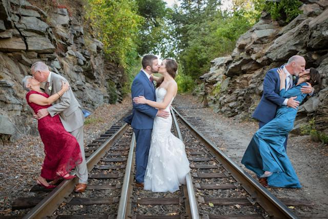 A married couple captured two generations of love in their wedding photos. (Photo: Ashley Abel Photography)