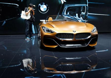A BMW Z4 concept car is displayed during media preview of the 45th Tokyo Motor Show in Tokyo