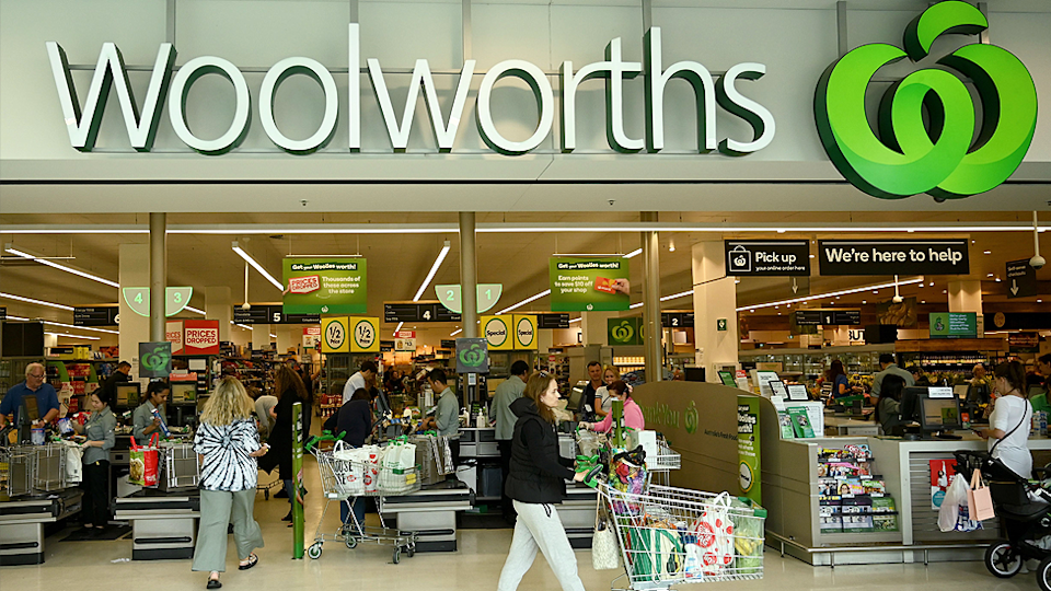 Woolworths store front.