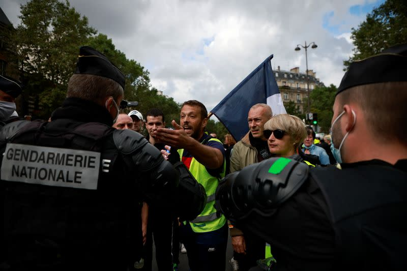 Protesters demonstrate against COVID-19 health pass in France